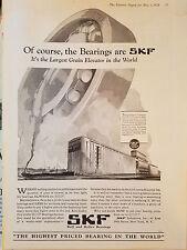 1929 Vintage SKF Bearings Saskatchewan Cooperative Pool Terminal Elevator Ad