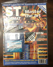 St Format Magazine Atari Computer W/ Disk! Days Of Thunder Oct 1990 Complete