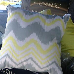 Lovely Quality ZAAB Homewares AVOCA Lemon Cushion Cover CLEARANCE SALE