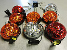 LAND ROVER DEFENDER 90 110 LED UPGRADE LAMPS KIT 73 MM LED STYLE LIGHT NEW