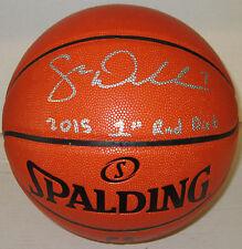Badgers SAM DEKKER Signed Replica NBA Spalding Basketball AUTO w/ 1st Rnd - JSA