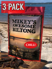 Mikeys Awesome Biltong - Chilli Flavour 225 grams - 3 Pack