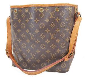 Authentic LOUIS VUITTON Petit Noe Monogram Shoulder Tote Bag Purse #38320