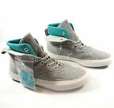 Mens Womens CONVERSE All Star GREY SKIDGRIP MID HI TOP Trainers Boots UK SIZE 9