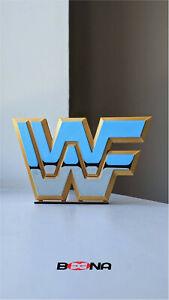 WWE - World Wrestling Entertainment self standing logo display (1982-1994)