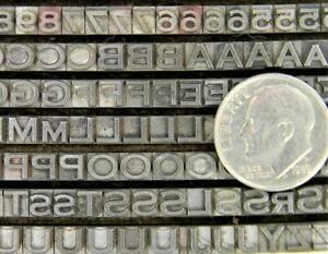 Metal Letterpress Printing Type 3 Sets 6/10/12pt Copperplate Gothic Lt MN82  6#