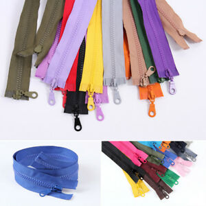 73cm Zipper Open End Chunky Zip Plastic Teeth Zippers 19colors Bag Clothes Acces