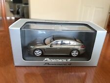 Rare Porsche Dealer Panamera 4. Metallic Brown. Minichamps 1/43 Diecast
