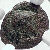 PERGAMON in MYSIA AUthentic Ancient 133BC Greek Coin ATHENA OWL NGC i82087