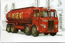1954 Leyland Octopus Regent Petrol Tanker unused 1990s sketch postcard