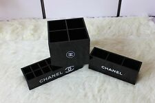 Brand New CHANEL Make Up Set Of 3 Cosmetic Brushes Storage VIP Gift Boxes