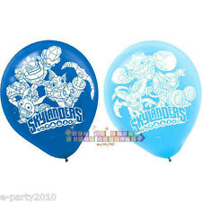 SKYLANDERS LATEX BALLOONS (6) ~ Birthday Party Supplies Helium Decorations Blue