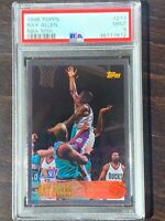1996 Topps Basketball Ray Allen ROOKIE RC #217 NBA 50th PSA 9 Low POP only 25