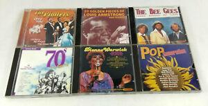 Lot de 6 CD  Annees 70  Platters Armstrong Bee Gees Warwick etc  Envoi suivi