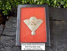 Old Rare Vintage Antique Civil War Relic Calvary Texas Saddle Shield Free Case