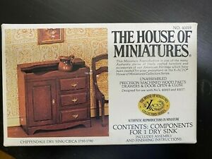 Xacto The House Of Miniatures Chippendale Dry Sink Dollhouse Kit 40019 Complete