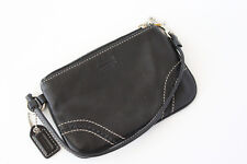 Authentic Coach Black Leather Wrislet Clutch - NEW never used