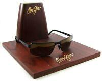 Maui Jim MJ187-02M Castaway Sunglasses Matte Black Frames/Brown Polarized Lenses