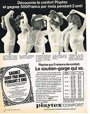 PUBLICITE  1967   PLAYTEX  soutien gorge  découvez le cconfort