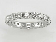 "1.30ct Diamond Eternity Ring in 14k White Gold  ""U""-Style  Size 8"