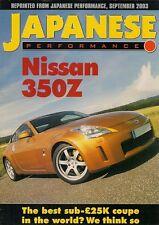 Nissan 350Z Coupe Road Test 2003-04 UK Market Brochure Japanese Performance