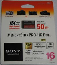 Genuine Sony 16gb Memory Stick Pro-HG Duo HX  Card 50 mb/s UK seller vat invoice