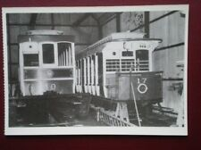 POSTCARD MANX TRAMS - DEPOT 1 WITH TRAILER 40 & CAR 17 DERBY CASTLE 1985