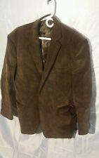Adolfo Corduroy 2-Button Blazer Jacket Coat Lined Black Men's sz 46R
