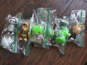 Futurama Universe X Kidrobot Figure & Accessory Lot of 6 Slurms Bender calculon