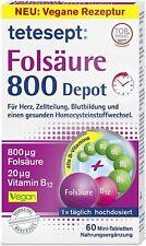 tetesept Folsäure 800 Depot ? Nahrungsergänzungsmittel mit Depot-Technologie