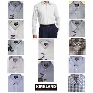 Men's Kirkland Signature Traditional Fit Long Sleeve Dress Shirt - VARIETY!!