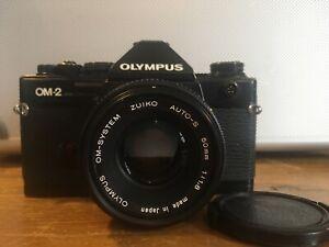 Vintage Olympus Om2 Spot Program W/ 50mm 1:1.8 Lens SLR 35mm Fully Serviced