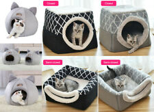 Pet Cat Dog Warm Nest Bed Puppy Soft Cave House  Closed Cat Room Sleeping Mat UK