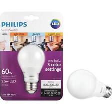 4pk Philips Medium LED 3 Color Settings 60W uses 9.5W Light Bulb Color Changing