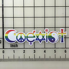 "COEXIST Vinyl Decal Sticker Set 6"" Wide, Full Color, BOGO"