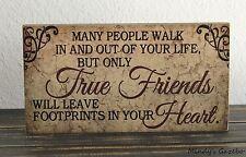 PRIMITIVE COUNTRY WOOD FRIENDSHIP SIGN HANDMADE INSPIRATIONAL HOME DECOR 0585