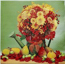FLOWERS & FRUITS ARRANGEMENT 2 LUNCH SIZE paper napkins for decoupage 3-ply