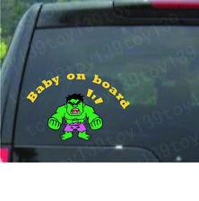 "Incredible Hulk ""BABY ON BOARD"" Vinyl Sticker /Decal vinyl car i pad laptop wind"