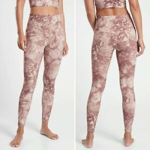NWT Athleta Elation Printed Tight SMALL Antoinette Velvety Pink Fitted Yoga Pant