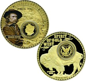 CUSTER'S LAST STAND COLOSSAL COMMEMORATIVE COIN PROOF VALUE $139.95