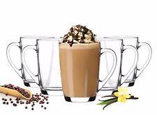 6  Kaffeegläser 300ml mit 6 Löffel Teegläser Latte Macchiato Gläser Kaffeebecher