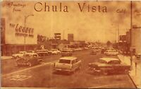 Postcard Third Avenue in Chula Vista, California~135207