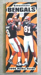 CINCINNATI BENGALS NFL FOOTBALL MEDIA GUIDE - 1996 - NEAR MINT