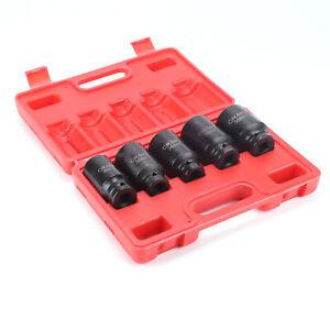 5pcs/12 Point Axle Hub Nut Deep Impact Socket Tool Set 30mm 32mm 34mm 35mm 36mm