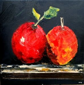 oil acrylic painting canvas ready to hang original palette knife deep oil Smig