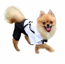 QiCheng&LYS Dog Clothes Pet Stylish Suit, Formal Tuxedo with Black Bow Tie Suit