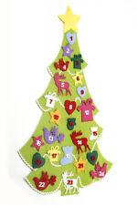 Heaven Sends Felt Green Animal Gift Star Fabric Christmas Tree Advent Calendar