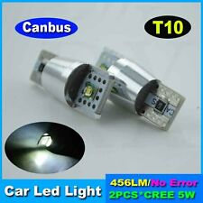 2x10W CREE Canbus Error Free T10 W5W LED CAR CAWedge Side Light Bulb Lamp WHITE
