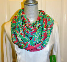NWT LILLY PULITZER RILEY INFINITY LOOP SCARF CAPRI PINK TRUNK SHOW
