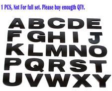 1Piece 3D Matte Black Adhesive Alphabet Letter Car Bumper Badge Emblelm Stickers